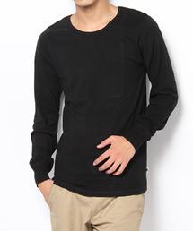 BASECONTROL(ベースコントロール)のbaby rib loose neck long tee(Tシャツ/カットソー)