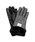 HARRIS TWEED(ハリスツイード)の「ハリスツイード×ラムレザー スマホ 手袋 レディースデザイン(リボン/ファー)(手袋)」|グレー系その他