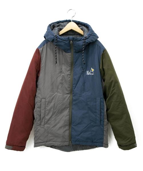 クレイジーマットポリパディングパーカジャケット