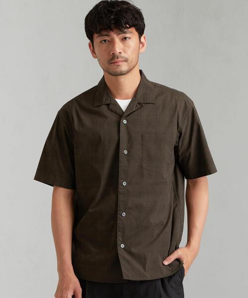 CM ドライチェック オープンカラー 半袖 シャツ