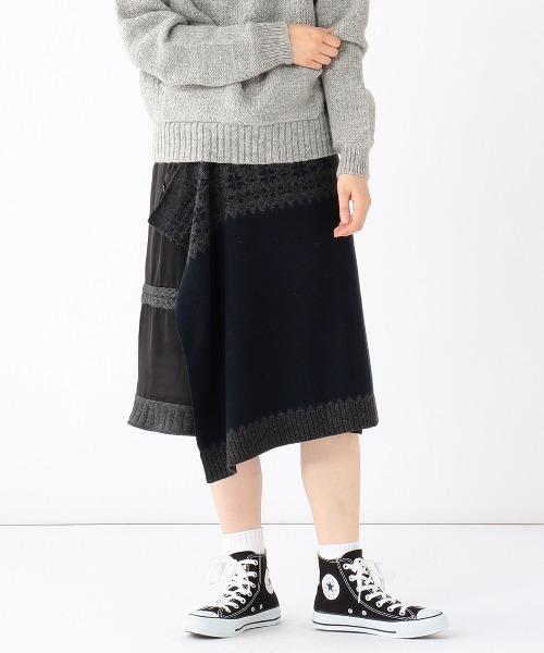 消費税無し A × BEAMS BOY / 別注 ノルディック スカート, ニシメヤムラ f532d8b2