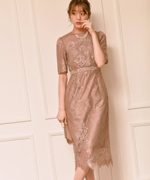 Andemiu(アンデミュウ)の【WEB限定】ストライプレースワンピース852829(ドレス)
