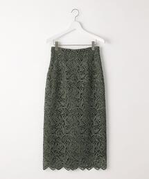 【EMMEL REFINES】ケミカルレース Iライン スカート