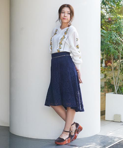 【sweet掲載】レースマーメイドスカート