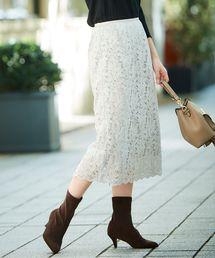 le.coeur blanc(ルクールブラン)のレースタイトスカート(スカート)