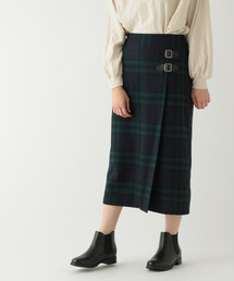 studio CLIP(スタディオクリップ)のウール混ラップキルト風スカート(スカート)