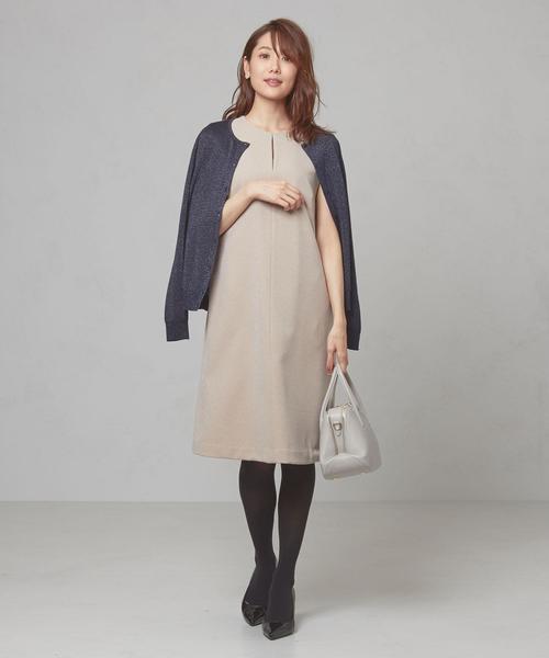 <closet story>□フロントスリット ジャンパースカート -手洗い可能-