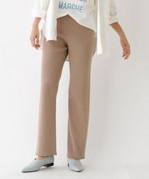 aquagirl(アクアガール)の無縫製リブニットパンツ(パンツ)