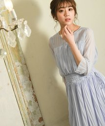 Andemiu(アンデミュウ)のシアーストライプドレス840158(ドレス)