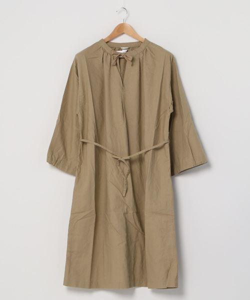 【 MONT KEMMEL / モンケメル 】SMOK DRESS コットンリネン スモックドレス  ワンピース