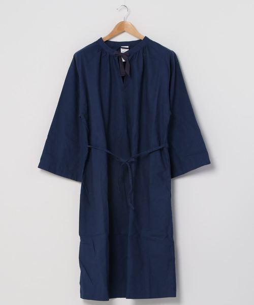 ∴【 MONT KEMMEL / モンケメル 】SMOK DRESS コットンリネン スモックドレス  ワンピース