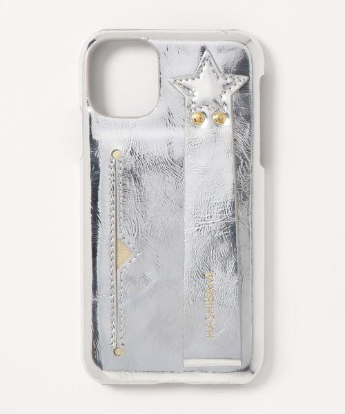 Hashibami(ハシバミ)の「【HASHIBAMI】カードポケット付きスマホケース(その他小物)」|シルバー