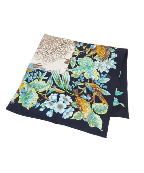 オリジナルボタニカルプリントスカーフ