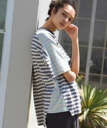 FEELING MADE UVカット マルチボーダー クレイジーTシャツ