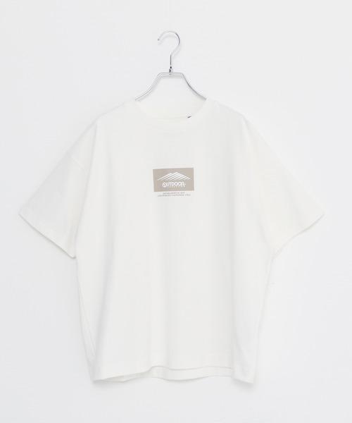 USAコットン ヘビーウェイトビッグシルエットブランドロゴTシャツ