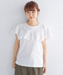 haco!(ハコ)のU.S.A.コットンフリルトップス(Tシャツ/カットソー)