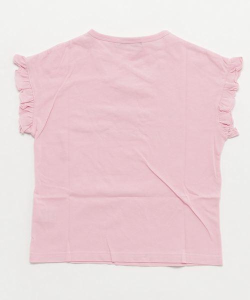 ZIDDY/天竺袖フリルTシャツ