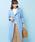 COLLAGE GALLARDAGALANTE(コラージュ ガリャルダガランテ)の「ライナー付きトレンチコート(トレンチコート)」 ブルー