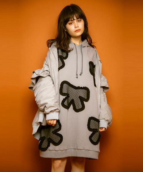 【数量は多】 【セール】RIBBON PATCH PATCH SWEAT SWEAT ワンピース(ワンピース)|Candy Stripper(キャンディストリッパー)のファッション通販, ふぁんくる:e41d1e60 --- fahrservice-fischer.de