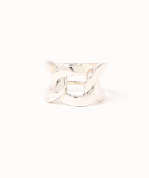 【YArKA/ヤーカ】silver925 flat link chain motif ring[chiki]/シルバー925喜平チェーンモチーフリング