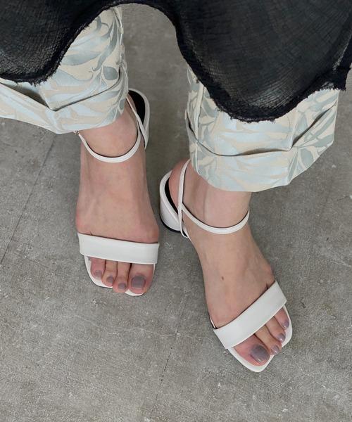 【chuclla】【2021/SS】Wave-toe strap sandal chs141