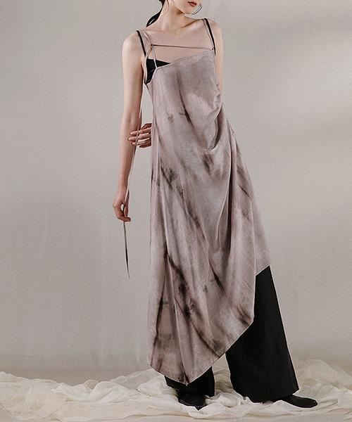 【MURMURMI】High slit strap dress chw21a024