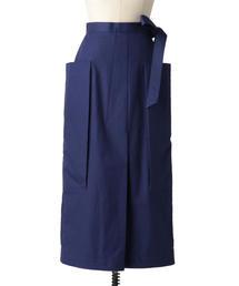 Drawer リボンロングタイトスカート