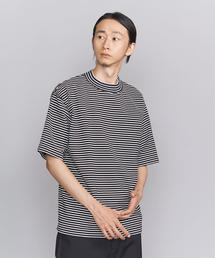 BY ボーダー モックネック 樽型 Tシャツ -MADE IN JAPAN- ◆