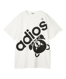 BIG ADIOS BEAR オーバーサイズTシャツホワイト