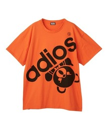 BIG ADIOS BEAR オーバーサイズTシャツオレンジ
