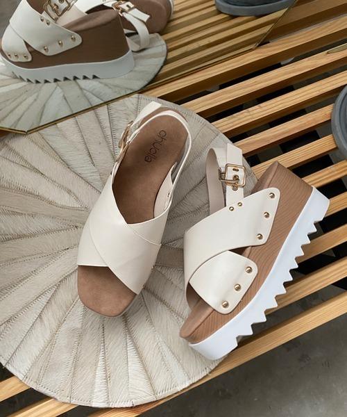 【chuclla】Shark-sole studs volume sandal sb-6 chs69