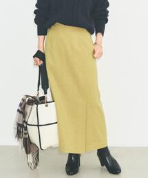◆SC フラノ ロング タイト スカート