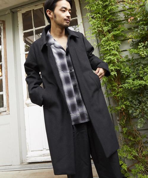 都内で 【セール】ステンカラーコートメルトンロングコート(ステンカラーコート) unrelaxing(アンリラクシング)のファッション通販, 木らく部:1815ff45 --- blog.buypower.ng