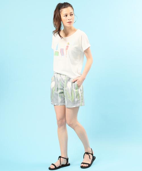 【半夏生】UVカットプリントT Shirt スイマー
