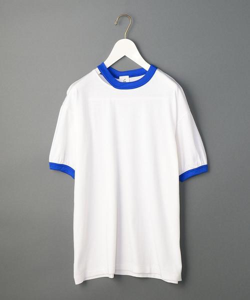 <6(ROKU)>RINGER T-SHIRT/Tシャツ