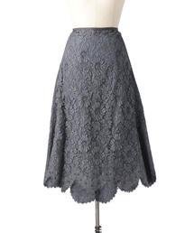 Drawer レースタイトフレアスカート