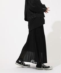 AZUL BY MOUSSY(アズールバイマウジー)のIRREGULAR PLEAT SKIRT/イレギュラープリーツスカート(スカート)