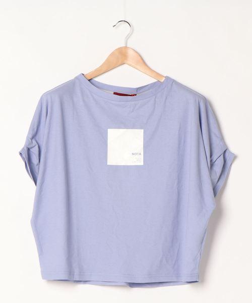 袖タックプリントTシャツ
