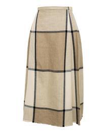 Drawer ウィンドウペンチェック裾フリンジスカート