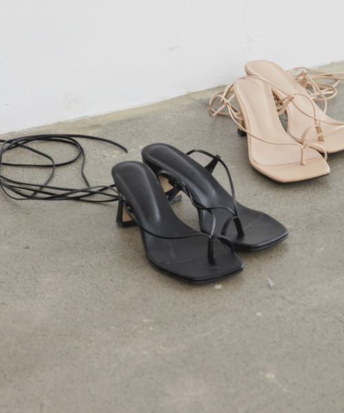 lace up heel sandal