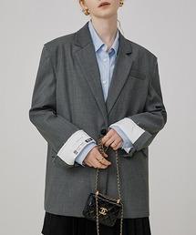 【Fano Studios】【2021AW】Wrap back cuff jacket FQ21W102グレー