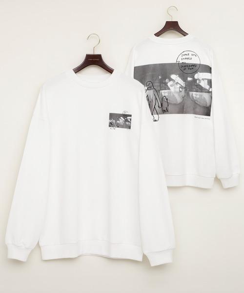Mark Gonzales/マークゴンザレス EMMA CLOTHES別注 背面プリント ビッグシルエット プルオーバースウェット