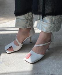 【chuclla】【2021/SS】Asymmetry cutting-toe pumps chs143ホワイト