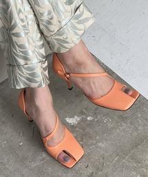 【chuclla】【2021/SS】Asymmetry cutting-toe pumps chs143オレンジ