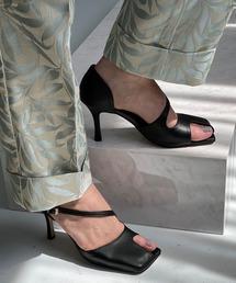 【chuclla】【2021/SS】Asymmetry cutting-toe pumps chs143ブラック