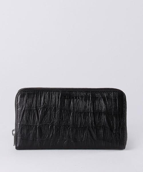 c55468b74df5 DIESEL(ディーゼル)の「メンズ 財布 ジップ付き 長財布 型押しクロコウォレット