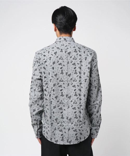 ペイズリー長袖シャツ