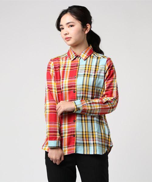 ツートーンチェックシャツ