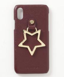 【 Hashibami / ハシバミ 】 # iPhone X/XS スマホ・携帯カバー リング付きケースボルドー