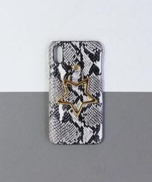 【 Hashibami / ハシバミ 】 # iPhone X/XS スマホ・携帯カバー リング付きケースホワイト